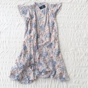 Abercrombie & Fitch White Print Tie Dress M NWT